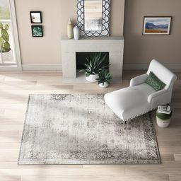 Brandt Floral Gray Area Rug | Wayfair North America