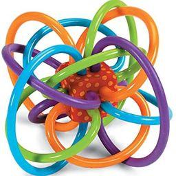 Manhattan Toy Winkel Rattle & Sensory Teether Toy Blue/Green/Orange, 5 Inch x 4 Inch x 3.5 Inch   Amazon (US)
