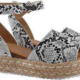 Gnpolo Womens Espadrille Wedge Sandals Platform Sandles Summer Buckle Casual Flatform Shoes | Amazon (US)