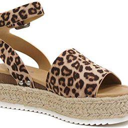 Soda Topic Topshoe Avenue Women's Open Toe Ankle Strap Espadrille Sandal | Amazon (US)
