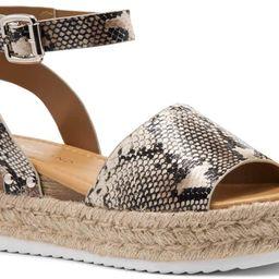 Shoe Land Legossa Womens Open Toe Ankle Strap Platform Wedge Shoes Casual Espadrilles Trim Flatfo... | Amazon (US)