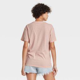 Women's The Rolling Stones Multi Logo Short Sleeve Graphic T-Shirt - Blush | Target