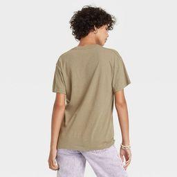 Women's The Rolling Stones Multi Logo Short Sleeve Graphic T-Shirt - Green | Target