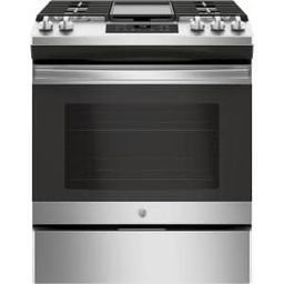 Cafe 30 in. 5.6 cu. ft. Smart Gas Range with Self-Clean Oven in Matte White, Fingerprint Resistan... | The Home Depot