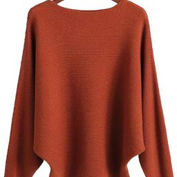 Ckikiou Women Lightweight Oversized Sweaters Tops Batwing Loose Cashmere Pullovers | Amazon (US)