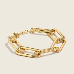 Long link gold bracelet | J.Crew US