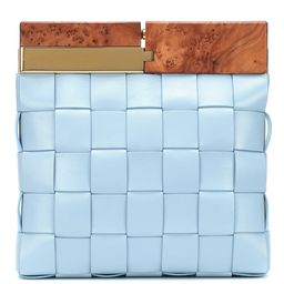BV Snap intrecciato leather clutch | Mytheresa (US)