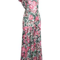 Avenel Floral Ruffle One-Shoulder Dress | Saks Fifth Avenue