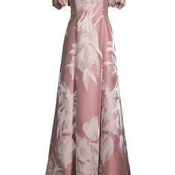 Off-The-Shoulder Floral Jacquard Gown | Saks Fifth Avenue