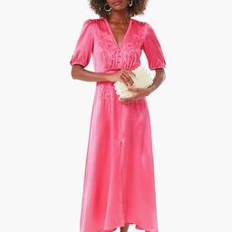 Punch Pink Flowering Lea Long Dress | Tuckernuck (US)