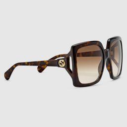 Oversize square-frame sunglasses | Gucci (US)