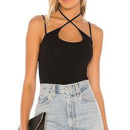 Rozie Scoop Neck Top in Black | Revolve Clothing (Global)