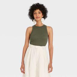 Women's Slim Fit Rib Tank Top - A New Day™   Target