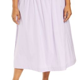 Organic Cotton Poplin A-Line Skirt   Nordstrom