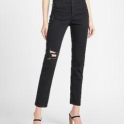 Super High Waisted Black Slim Jeans   Express