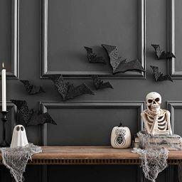 Black Glitter Bats, Set of 8   Kirkland's Home