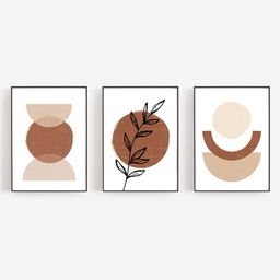 Boho Art Set of 3 Prints Boho Wall Art Abstract Gallery Wall | Etsy | Etsy (US)