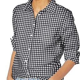 Amazon Essentials Women's Classic-Fit Long Sleeve Button Down Poplin Shirt | Amazon (US)