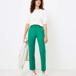 Perfect Straight Pants in Stretch Double Weave | LOFT