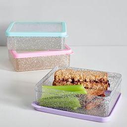 Spencer Glitter Sandwich Food Storage   Pottery Barn Kids
