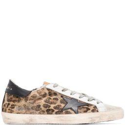Superstar leopard print sneakers   Farfetch (US)