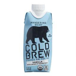 Wandering Bear Vanilla Cold Brew Coffee with Coconut Milk   World Market