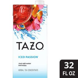 Tazo Herbal Tea Iced Passion Concentrate 32 oz   Walmart (US)