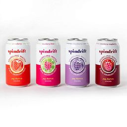 Spindrift Sparkling Water, 4 Flavor Berry Variety Pack, Made with Real Fruit, 12 Fl Oz, Pack of 2...   Amazon (US)