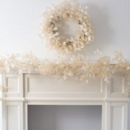 Dried Look Translucent Bleached Lunaria All Seasons Mantle Garland Table Runner | Wayfair Professional