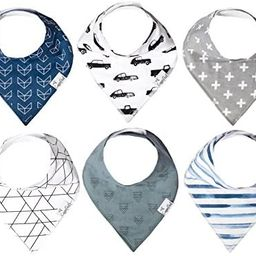 """Baby Bandana Drool Bibs for Drooling and Teething 6 Pack Gift Set For Boys """"Rider"""" by Copper ...   Amazon (US)"""