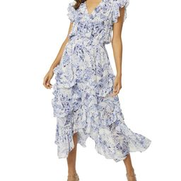 MISA Los Angeles Dakota Midi Tiered Floral Chiffon Dress | Neiman Marcus