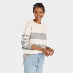 Women's Striped Long Sleeve Pullover Sweater - Knox Rose™   Target