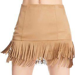 Relish Noless Women Fringe Skirt High Waist Cute Tassel Short Skirt Bodycon Faux Suede Mini Swing... | Amazon (US)