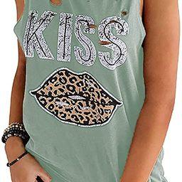 Avanova Women's Summer Sleeveless Printed Tank Tops Camis Blouse Tops T Shirt | Amazon (US)