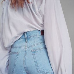 BDG Girlfriend High-Waisted Denim Short - Light Blue   Urban Outfitters (US and RoW)