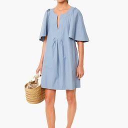 Slate Blue Finley Flutter Sleeve Dress | Tuckernuck (US)