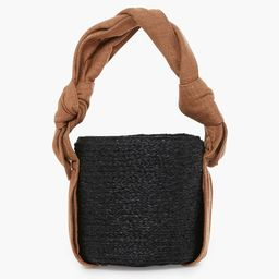 Black Lila Raffia Bucket Bag | Tuckernuck (US)