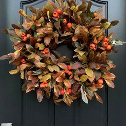 Outdoor Fall Foliage Berry Wreath | Etsy | Etsy (US)