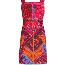 Farm Rio Colorful Bandana Mini Dress, Multi M | INTERMIX