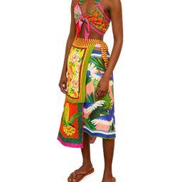 Multi Scarfs Midi Wrap Skirt | Neiman Marcus