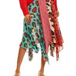 Farm Rio Mixed Leopard Midi Skirt | Gilt