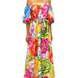 Rainbow Chita Off-the-Shoulder Maxi Dress | Neiman Marcus