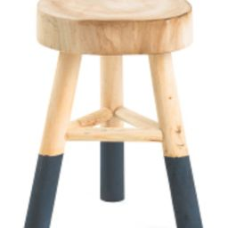 18in Wooden Stool With Dipped Legs   TJ Maxx
