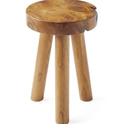 Teak Stool   Serena and Lily