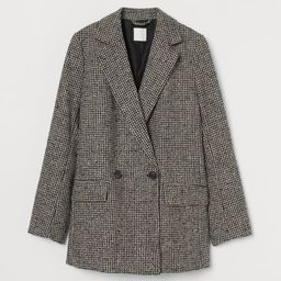 Double-breasted Bouclé Jacket | H&M (US)