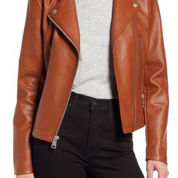 Women's Faux Leather Moto Jacket   Nordstrom