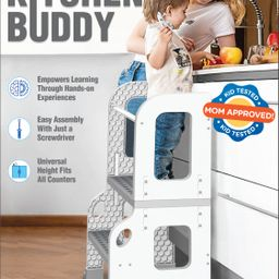 CORE PACIFIC Kitchen Buddy 2 in 1 Stool for Ages 1-3 safe up to 100 lbs. | Walmart (US)