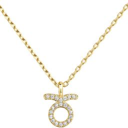 PAVOI 14K Gold Plated CZ Astrology Necklace Astrology Necklace   Astrology Gifts for Women   Zodiac    Amazon (US)