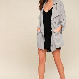 Lucky Break Light Grey Oversized Jacket | Lulus (US)