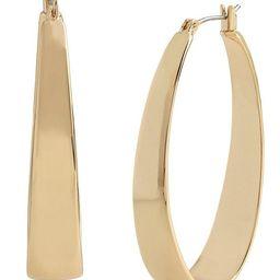 Thick Oval Hoop Earrings   Dillards